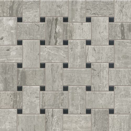 "Classic 2.0 2"" x 2"" Floor & Wall Mosaic in Travertino Grigio"