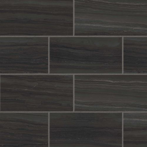 "Highland 12"" x 24"" Floor & Wall Tile in Black"