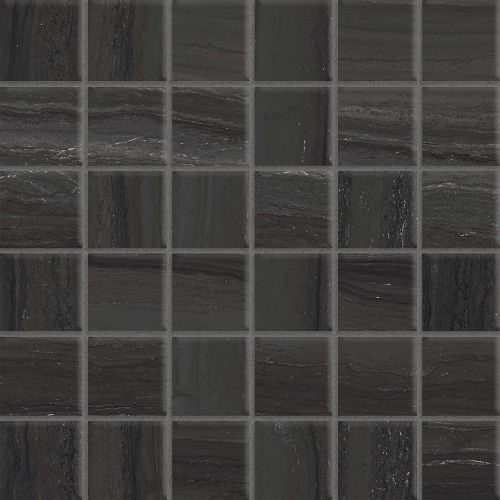 "Highland 2"" x 2"" Floor & Wall Mosaic in Black"