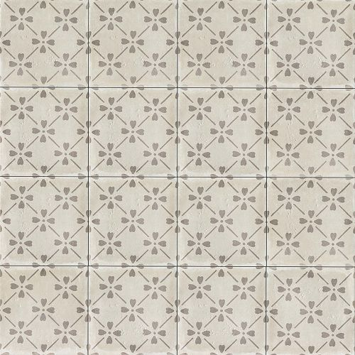 "Palazzo 12"" x 12"" Decorative Tile in Vintage Grey Bloom"