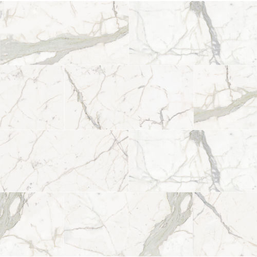 "Plane 15"" x 30"" x 1/4"" Floor and Wall Tile in Classico (Calacatta)"