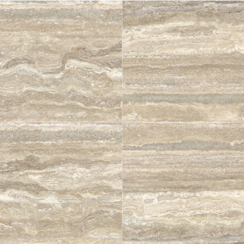 "Plane 30"" x 30"" Floor & Wall Tile in Travertino Vena Polished"