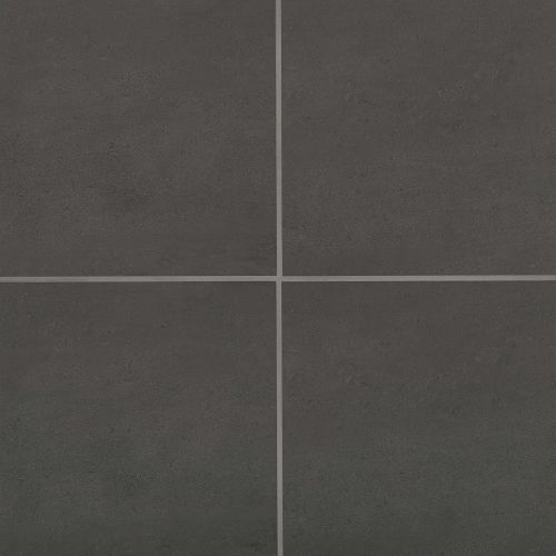 "Simply Modern 12"" x 12"" Floor & Wall Tile in Black"