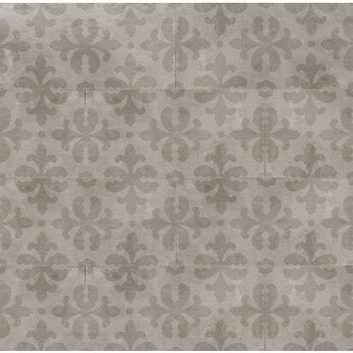 "Cemento 12"" x 24"" Decorative Tile in Silver"