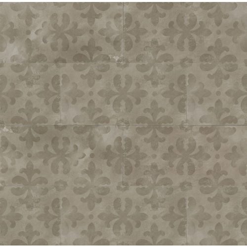 "Cemento 12"" x 24"" Decorative Tile in Titan"