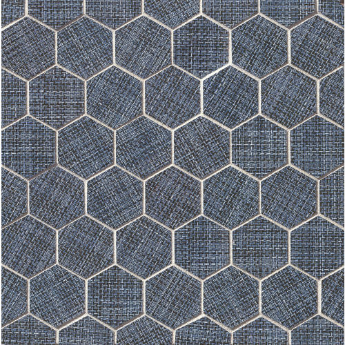 "Dagny 2"" x 2"" Floor & Wall Mosaic in Denimun"