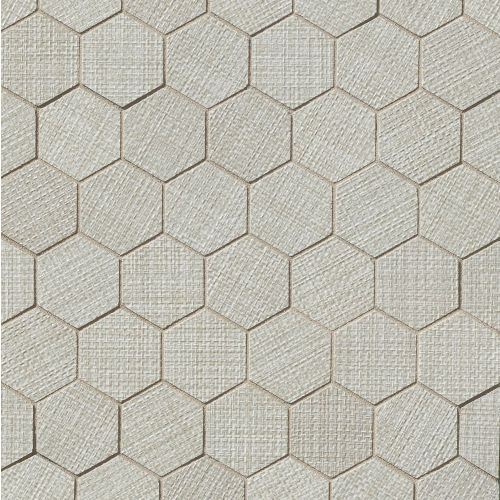"Dagny 2"" x 2"" Floor & Wall Mosaic in Silver"