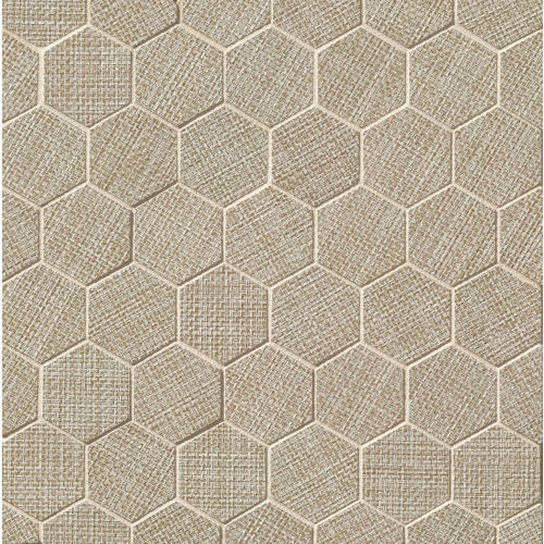 "Dagny 2"" x 2"" Floor & Wall Mosaic in Taupe"