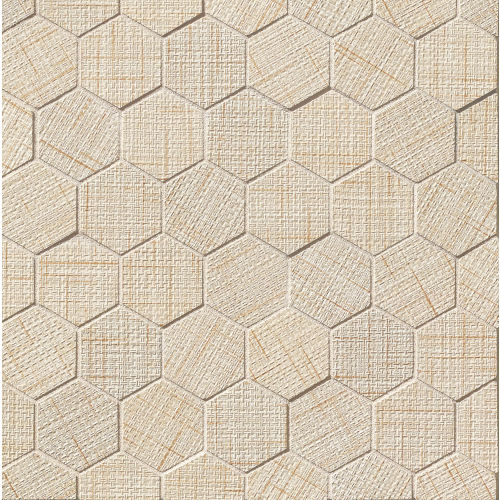 "Lido 2"" x 2"" Floor & Wall Mosaic in Almond"