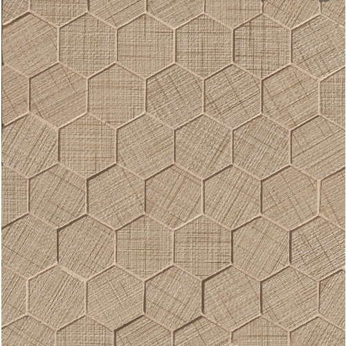 "Lido 2"" x 2"" Floor & Wall Mosaic in Camel"