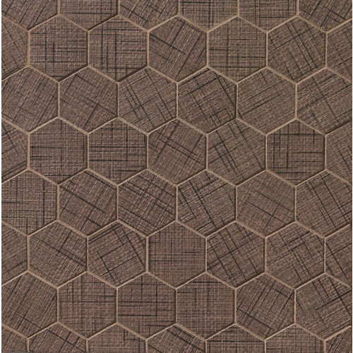 "Lido 2"" x 2"" Floor & Wall Mosaic in Maroon"