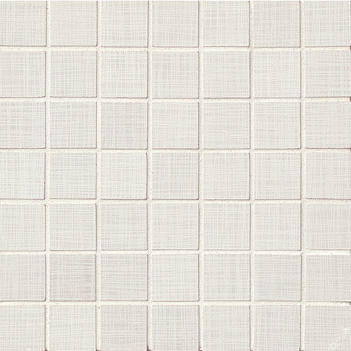 "Linen 1-1/2"" x 1-1/2"" Floor & Wall Mosaic in White"