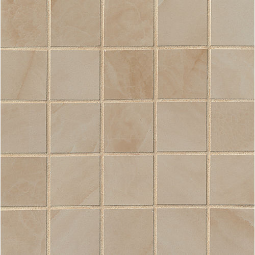 "Onyx 2"" x 2"" Floor & Wall Mosaic in Almond"
