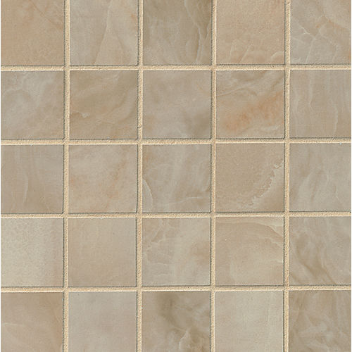 "Onyx 2"" x 2"" Floor & Wall Mosaic in Camel"