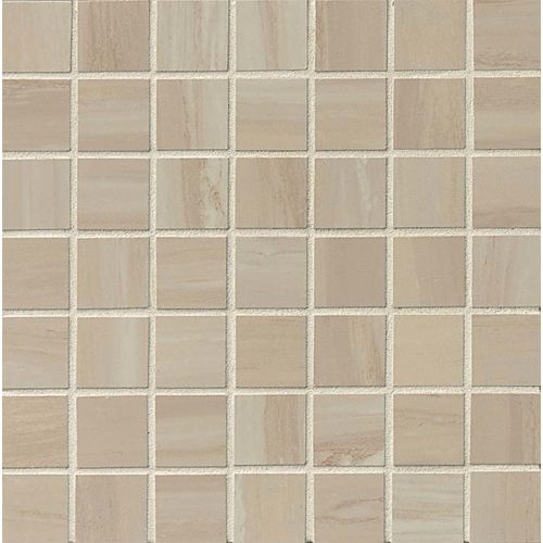 "Rose Wood 1-1/2"" x 1-1/2"" Floor & Wall Mosaic in Off White"