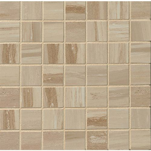 "Rose Wood 1-1/2"" x 1-1/2"" Floor & Wall Mosaic in Camel"