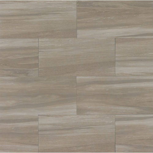 "Rose Wood 12"" x 24"" Floor & Wall Tile in Taupe"