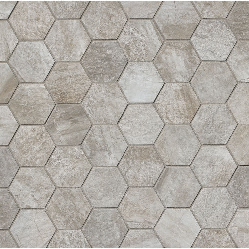 Stone Mountain Floor and Wall Mosaic in Silver
