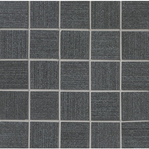 "Strands 2"" x 2"" Floor and Wall Mosaic in Black"