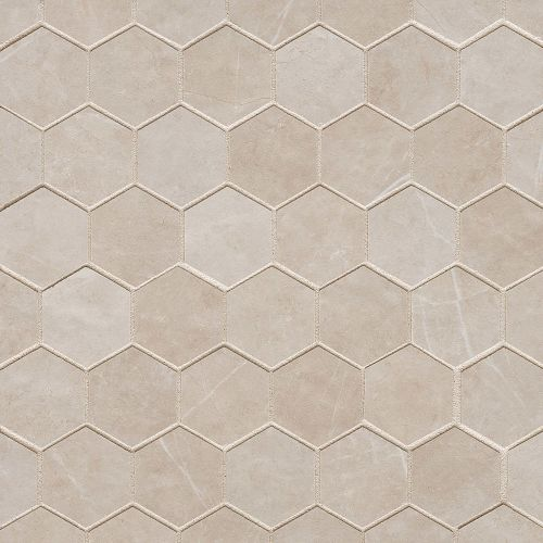 "Troy 2"" x 2"" Floor & Wall Mosaic in Beige"