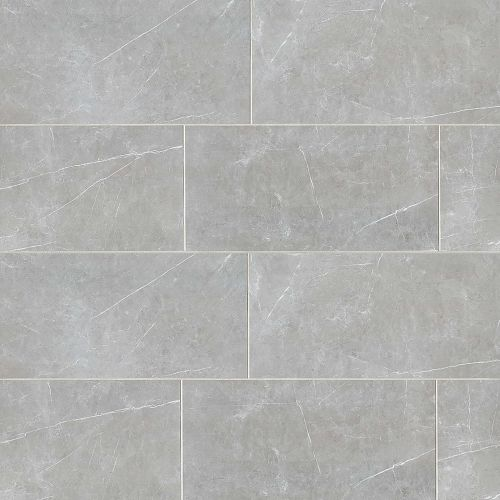 "Troy 12"" x 24"" Floor & Wall Tile in Silver"