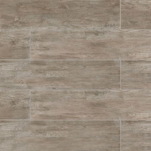 "River Wood 8"" x 48"" Floor & Wall Tile in Taupe"