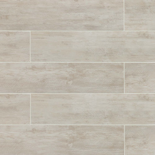 "River Wood 8"" x 24"" Floor & Wall Tile in Blanc"