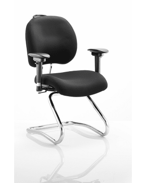 Chiro Plus Cantilver Chair with Arms, Black