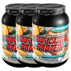 100% Casein Protein 3er Pack