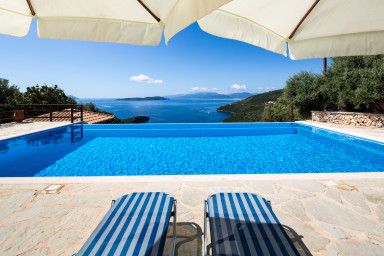 Villa Eleona - Breathtaking View of the Ionian Sea entering Sivota Bay