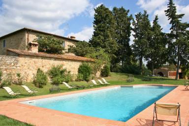 Rustik lantgård att hyra i Chianti