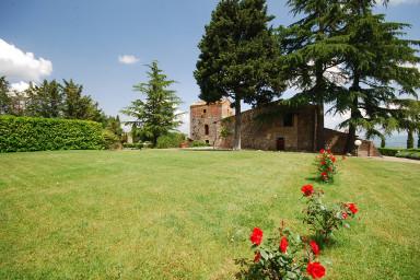 Stor villa i Toscana med pool, vingård och olivträd