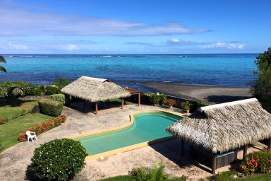 Tiapa apartment - Paea - Tahiti - 5 pers - beachfront - pool and jacuzzi