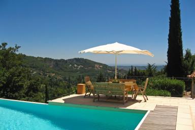 Charmig villa med vacker trädgård i Cabris