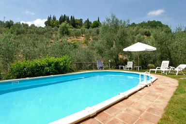 Mysig villa med pool i Toscana