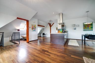 Podkrovní apartmán s terasou a grilem v Nosislavi
