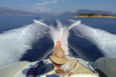 The perfect boat for your day cruise around the Ionian Sea beauties