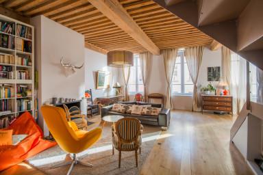 Grand apt style loft à Lyon Croix Rousse - W257