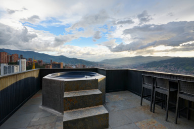 furnished apartments medellin penthouse - Miro Exquisite Penthouse with Breath Taking Views and Private Jacuzzi