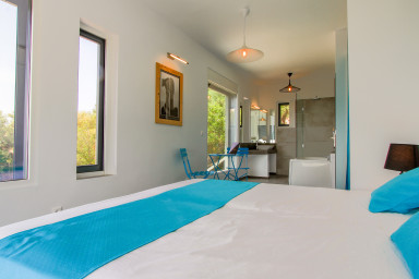 Villa Arkoudi, Dreamy holiday with sea view and cinema room open july 2018