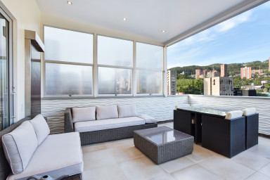 furnished apartments medellin penthouse - Ibiza 1303 Contemporary Penthouse Overlooking Poblado