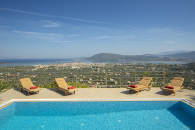 Luxury stonemade villa with exceptional view & pool