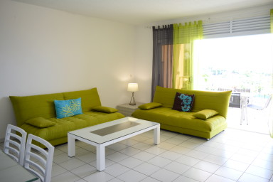 Tunui apartment - Tahiti - Punaauia- 4 bedrooms - pool & sea view - 8 pers