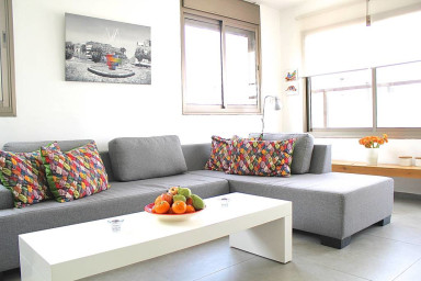 Bar Kochva-Great 2bedrooms with private PARKING