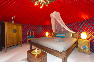 Eco Palm Yurt where you can enjoy the rural location with wonderful views