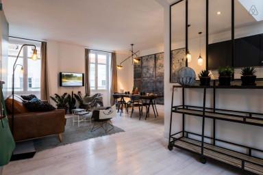 Appartement en Duplex Vintage avec Parking, Biarritz Centre