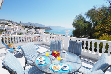View from terrace of Villa Rayo de Sol - Nerja Paradise Rentals