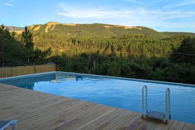 Yourte en bois tout confort 1 - piscine chauffee