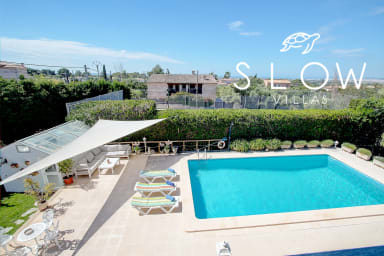 Villa Sa Cabaneta with pool, tennis court, and views to the Palma Bay