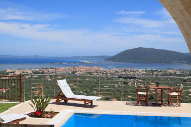Luxury stone-made villa with exceptional view & pool